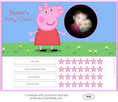 peppa pig potty training charts potty training middot customise middot sticker chart