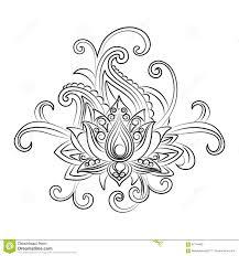 Vector орнаментальный лотос этническая Zentangled татуировка хны