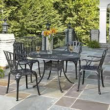 cast aluminum charcoal outdoor 5 piece patio dining set