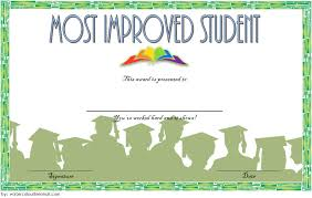 Most Improved Student Certificate 10 Template Designs Free