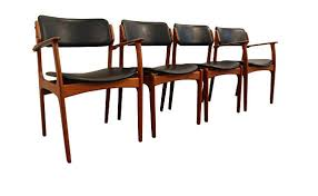 modern wooden chairs elegant mid century dining chairs danish modern teak erik buch od leather