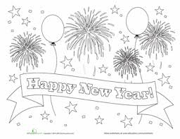 Chart On Happy New Year Happy New Year Coloring New Year Coloring Pages