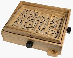 Wooden Maze Games Amazon Wooden Labyrinth Puzzle Maze Game Educational Toys 1