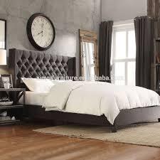 Naples Bedroom Furniture Black Fabric Queen Bed Frame Pu Leather Linen Beds Bedroom