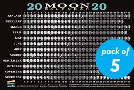 2020 Moon Calendar Card 5 Pack