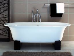 ... Bathtubs Idea, Appealing Freestanding Tubs Lowes Shop The Best Deal  With Towels And Hanger And ...