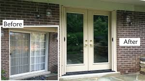 amazing sliding patio door replacement door replace sliding door with french doors theflowerlab