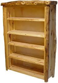 Rustic Log Bookcase