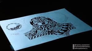 полинезийская татуировка эскиз 1