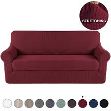 Sofa covers Handmade Stretch Slipcover Sofa Covers Red For Seat Couch Slipcoverlounge Covers Knit Spandex Stretch Sofa Slipcovers Pieces With Separate Sitting Cover Sofa Amazoncom Amazoncom Stretch Slipcover Sofa Covers Red For Seat Couch