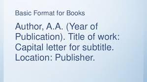 American Psychology Association Format American Psychological Association Apa Bibliography Writing