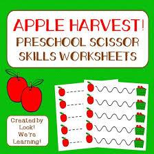 Preschool Worksheets: Apple Preschool Scissor Skills Worksheets ...