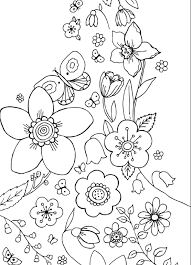 Spring Flower Coloring Sheets For Kids The Color Panda