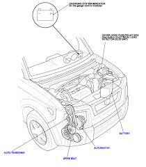 Honda element 4l serpintine belt diagram or instruction page john g honda technician crv engine