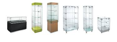Free Standing Glass Display Cabinets Glass Freestanding Display Cabinets Shopkit UK 1