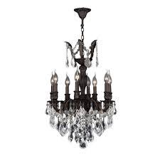 worldwide lighting versailles collection 8 light flemish brass crystal chandelier