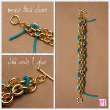 let the glue dry diy chain bracelet with studs weaving cord