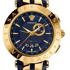 best versace watch for men products on wanelo men s versace v race gmt round leather strap watch 46mm blue