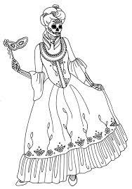 Dias De Los Muertos Skeleton Coloring