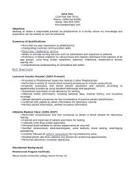 Phlebotomy Resume Examples Examples Of Resumes