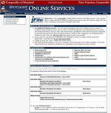 - 2016 Maryland's Demo For Filing Tax Internet Ifile