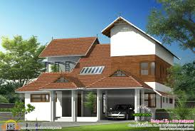 modern mix sloped roof home