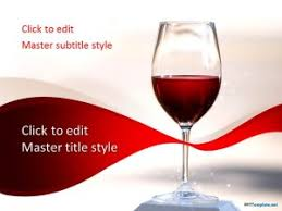 Wine Powerpoint Template Free Red Wine Ppt Template