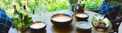 Multi Wick Candles Large Citronella Candles In Decorative Pottery