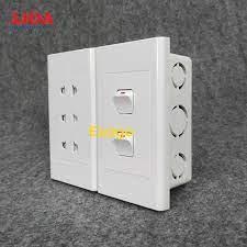 Combo ổ cắm điện ba 2 chấu 16A (3520W) + 2 công tắc điện LiOA - Lắp âm tường  - P534244 | Sàn thương mại điện tử của khách hàng Viettelpost