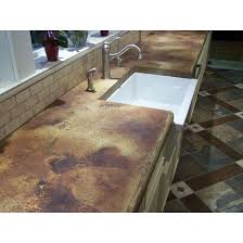 concrete countertop stain
