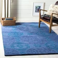handmade treasures blue new wool rug zealand rugs made in india