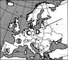 Контрольная работа по географии за учебный год класс  8 Какой буквой на карте обозначено государство Испания