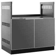 Home Depot Outdoor Kitchen Cabinets Newage Products Aluminum Slate 33 In Insert Bbq Grill 33x348x23