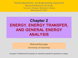 Chapter 2 ENERGY, ENERGY TRANSFER, AND GENERAL ENERGY ANALYSIS - ppt ...