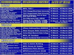 philippine air force exam 2020 schedule