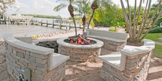 Stacked Stone Fire Pit outdoor fireplace photo gallery & design ideas tampa bay area 1258 by xevi.us
