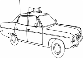 Small Picture Police Car Coloring Pages Coloring Page Home Car On The Road For