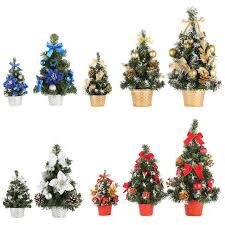 Us Mini Desk Table Top Christmas Tree Xmas Home Party Room Small Ornaments Decor