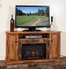 sd 3488ro 60r 60 sedona rustic oak fireplace tv stand