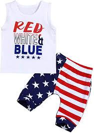 Toddler Kid <b>Baby Boy</b> Clothes Red White Blue <b>Sleeveless T</b>-Shirt ...