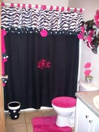hot pink shower curtains bathroom decor ideas accessories and d on ruffle curtain hot pink shower curtains