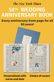 50th anniversary wedding gifts impress your favorite couple with the ultimate anniversary book from the