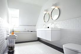 white walls black trim bathroom white subway tiles with black border subway tile shower oil rubbed