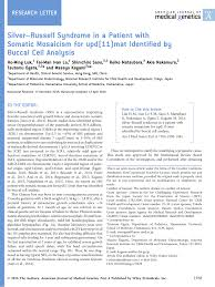 Silver Russell Syndrome In A Patient With Somatic Mosaicism