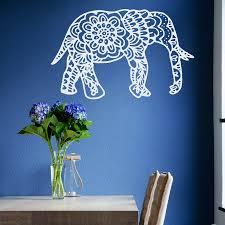 Small Picture Boho Home Decor Cheap Indian Elephant Mandala Buddha Wall Sticker