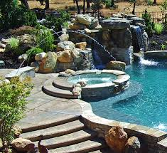 Pool Designs With Rock Slides Affordable Pool Grotto With Slide Designs Premier Pools Spas