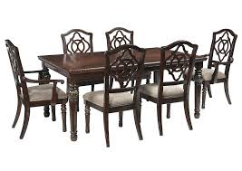 furniture boston frugal furniture plain ma reddish brown rectangular dining room extension table w 2 arm