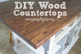 Diy Tile Kitchen Countertops A Spoonful Of Spit Up Diy Wood Butcher Block Countertops Diy