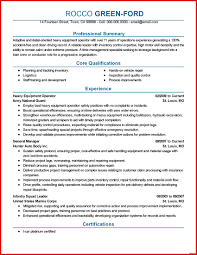 Heavy Equipment Operator Sample Resume Backhoe Operator Resume