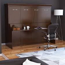 queen wall bed desk. Melbourne Queen Wall Bed W/ Desk Combo - Walnut